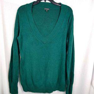 Express Women Sweater Sz XL Oversized V-neck Teal